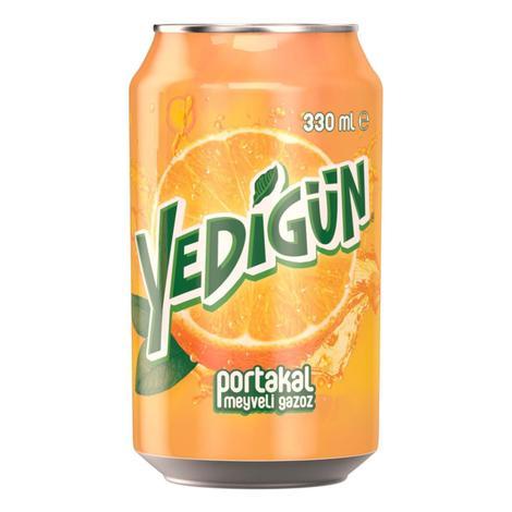 Yedigün Gazlı İçecek Portakal 330 Ml