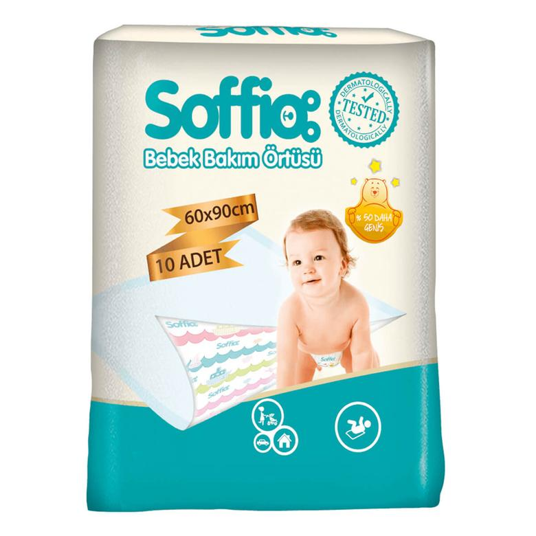 Soffio Bebek Bakım Örtüsü 60x90cm 10'lu