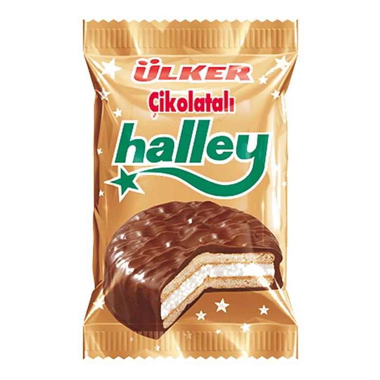 Ülker Halley Bisküvi Çikolata Kaplı Marshmallow 30 G