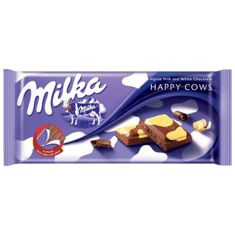 Milka Happy Cows Çikolata Sütlü 100 G