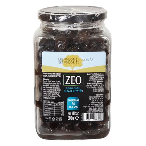 Zeo Siyah Zeytin M 600 G