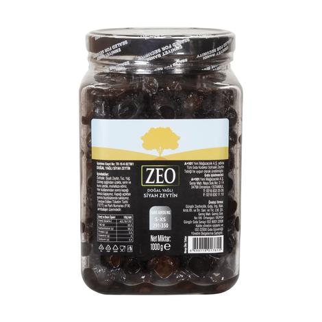 Zeo Siyah Zeytin S 1000 G