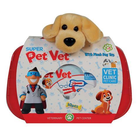 Oyuncak Veteriner Set-peluş Köpek Hediye