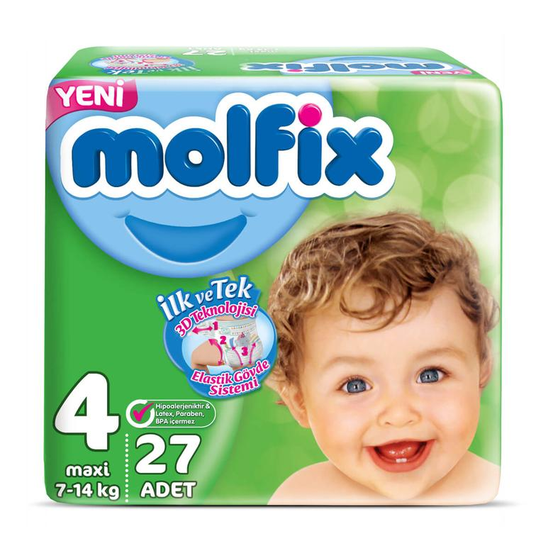 Molfix Çocuk Bezi Maxi 27'li