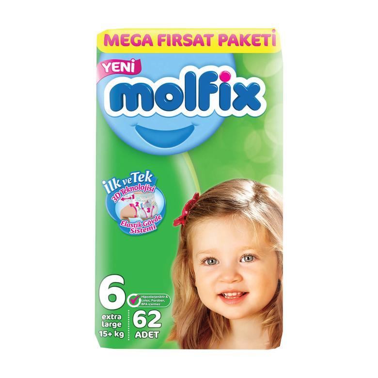 Molfix Çocuk Bezi Extra Large 62'li