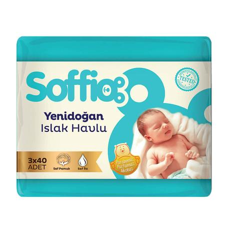 Soffio Islak Havlu Yenidoğan 3x40