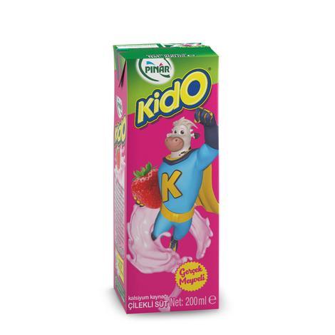 Pınar Kido Süt Çilekli 200 Ml