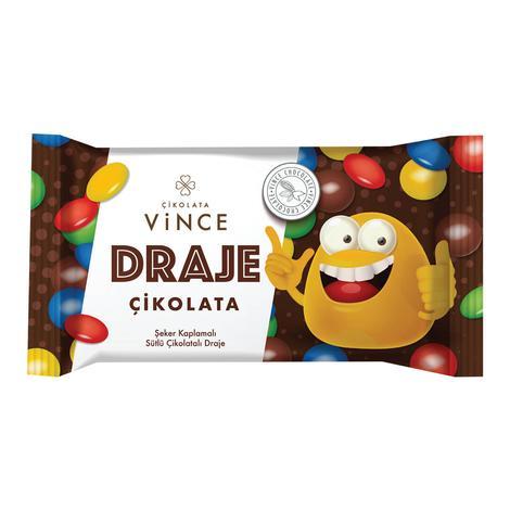 Vince Draje Çikolata Şeker Kaplı 45 G