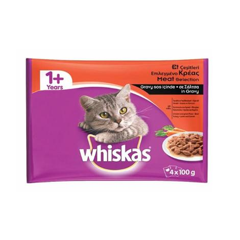 Whiskas Kedi Maması 4x100 G Karışık