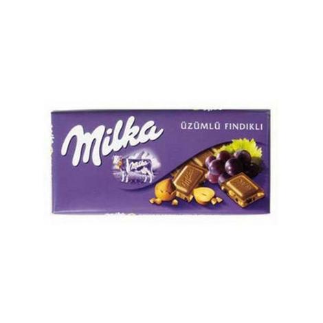 Mılka Çikolata Üzüm-fındık 80 G