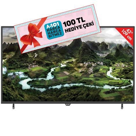 "Axen AX43DIL005 43"" Uydu Alıcılı Led TV"